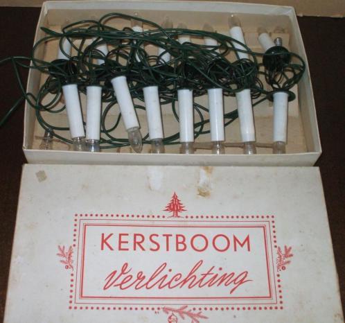 Vintage Kerstverlichting - 16 witte kaarslampjes op klemveer