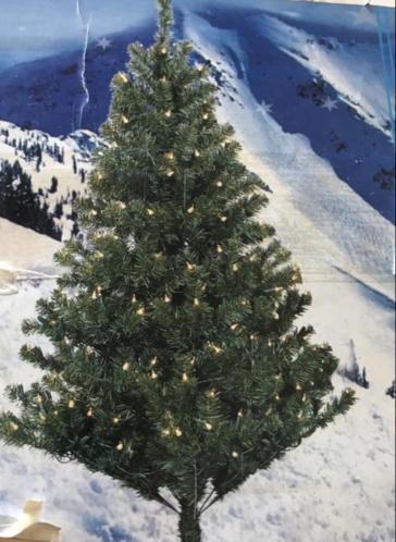 Kerstboom tafelmodel 150 cm met lampjes