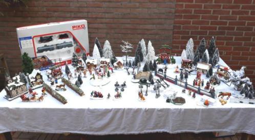 Kerstdorp compleet met trein