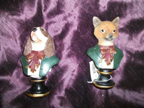 Partij Vos - Hond Decoratie Staander (nieuw) 21 x