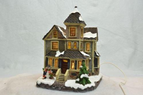 Dickensville Kerstdorp Huis met Torentje