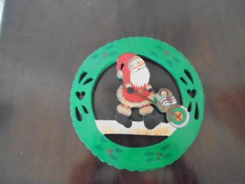 Kerst Spullen Hout 4 stuks