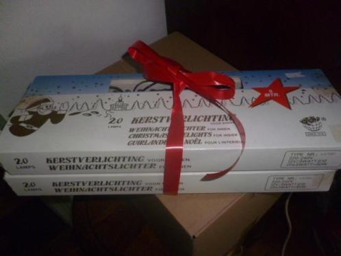 oude kerstverlichting 2 dozen druppelkaarsjes