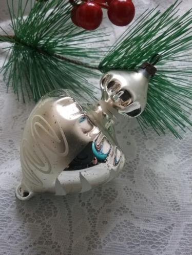 Oude antieke kerstbal tol kerstversiering kerst bal