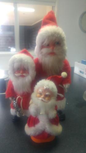 3 vintage kerstmannen