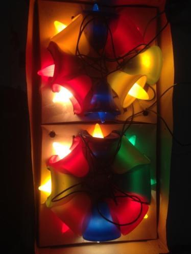 Oude antieke kerstlampjes kerstverlichting