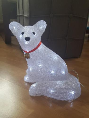 (buiten) lamp hond
