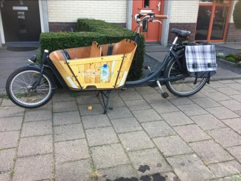 Babboe city 4-zits bakfiets hout.