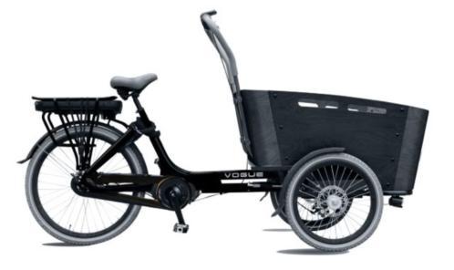 NEW Elektrische Vogue Carry bakfiets middenmotor bakfietsen