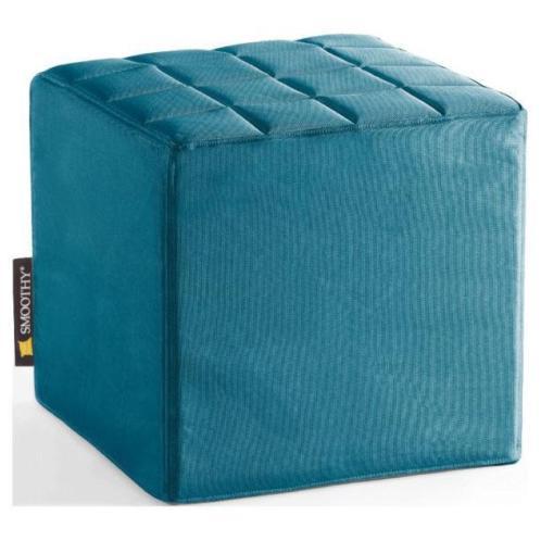 Smoothy poef Cube - Petrol