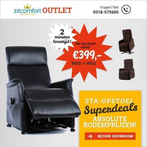 Sta Op Stoel Electrische Leer Nieuw relaxstoel bruin VA €295