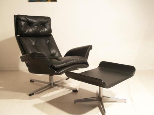 b) Jaren 70 design fauteuil - Eames - George Mulhauser stijl