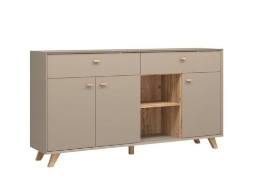 Germania Calvi Dressoir Large Grijs Hoge Poten Outlet