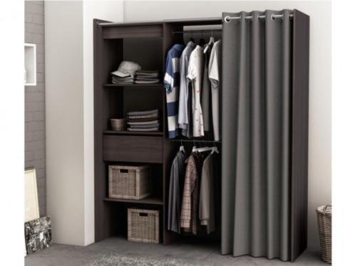 Modulaire kledingkast/dressing KYLIAN - L114/168 cm - Chocol