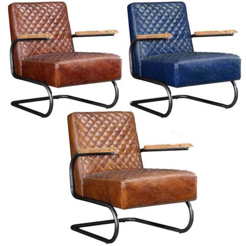 SALE: Industriële fauteuils 100% runderleer nu voor €379,95!