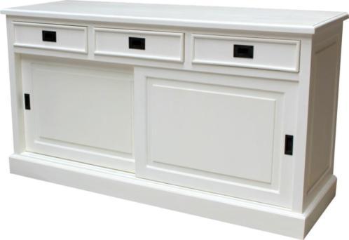 Dressoir wit, B.155cm Unieke prijs: voor € 379,= bij u thuis