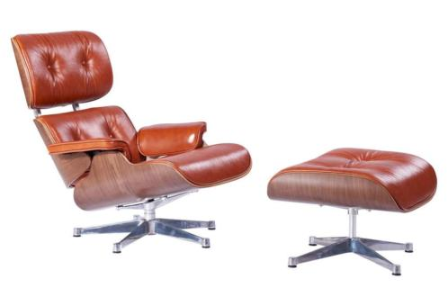 Eames Lounge Chair XL Set Cognac Leer | Gratis Montage !