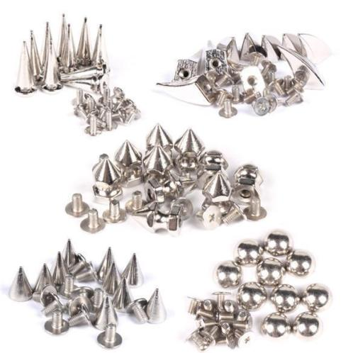 10 STKS Metal Cone Screwback Spikes Stud voor Punk Armband |