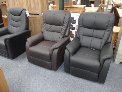 Relax fauteuils met sta op functie, op maat echt leer, stof