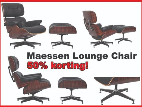 CHEAP!! Maesse lounge chair. Incl ottoman €485 deze week !!!