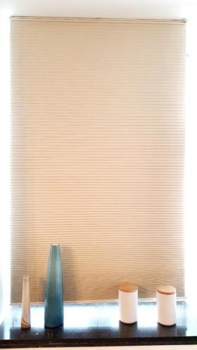luxaflex 2 stuks shades plisse gordijnen gebroken wit