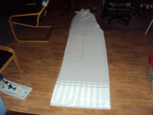 Nieuw wit stuk ONGEZOOMDE Vitrage+Sierrand / 248 br-300 hoog