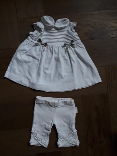 Jurkje newborn la petit couronne, wit grijs, Jottum, 50 56