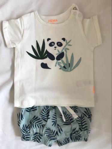 Baby pakje van Hema maat 50 broekje en shirtje