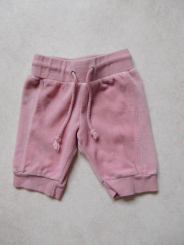 (G68) SALE! Mooi effe roze velours broekje