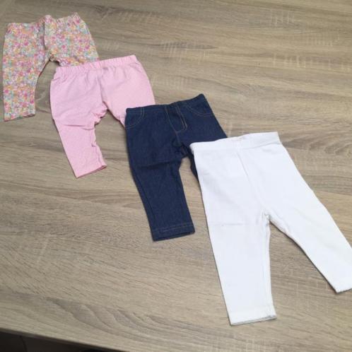 Baby leggings meisje broekjes 4 stuks 0-3 maanden 50 - 56