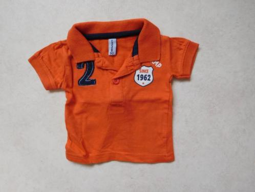 (O19) SALE! Stoer oranje polo shirtje