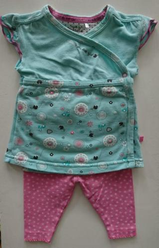 Setje jurkje korte mouwen Prenatal maat 50 met legging