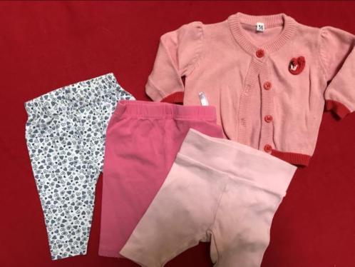 Meisjes pakket maat 50-56, rok vest shirt muts romper pakje