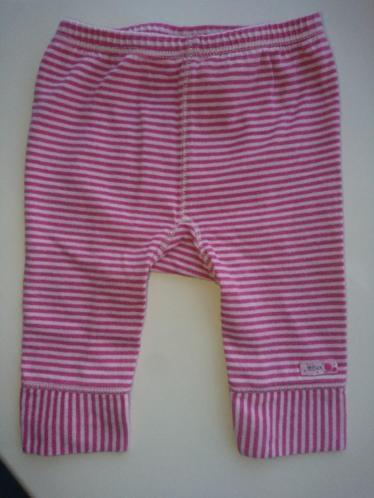 Zoet, roze gestreept broekje/legging van Mexx, maat 50-56
