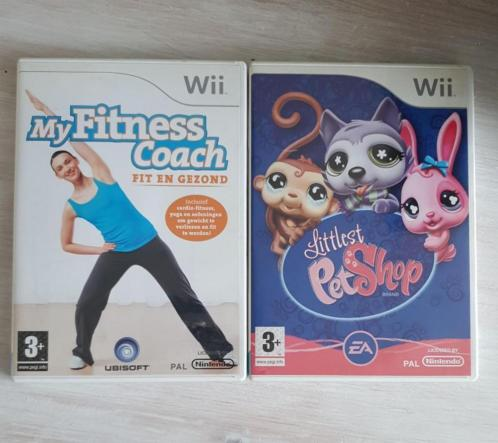 Wii spellen Pet Shop en My Fitness Coach