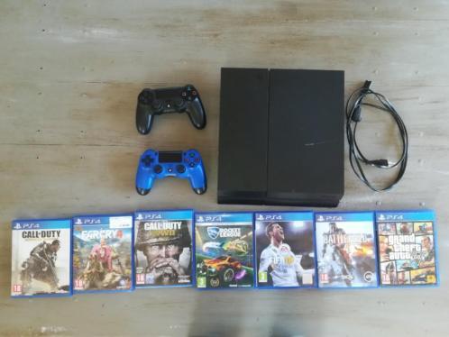 Playstation 4 met twee controllers