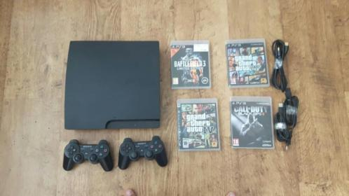 Playstation 3 4 spellen 2 controllers modded account gta 1TB