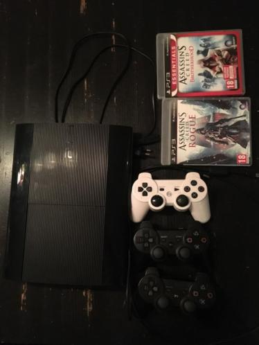 PlayStation ps3 super slim+ controllers + games