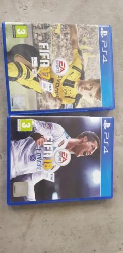 FIFA 17 en FIFA 18 te koop voor PS4