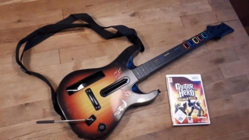 Guitar hero World tour met gitaar wii