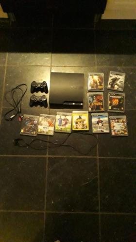 PS3 2 Controllers 10 Games