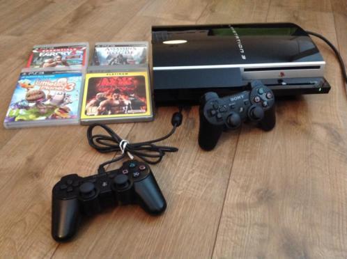 PS3 Console zo goed als nieuw + 4 games!!!