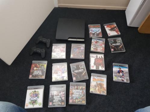 Ps3 PlayStation 3 met 2 controllers en spellen