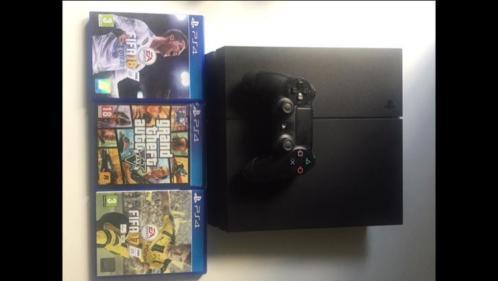 Ps 4 console + 1 controller en 3 games