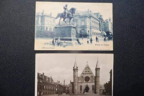 2 Ansichtkaarten Den Haag Binnenhof en Willem de Zwijger