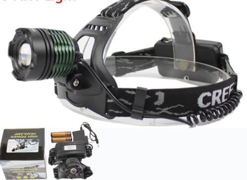 LED hoofdlamp 1800 lm oplaadbaar, Li-ion, krachtig, dimbaar